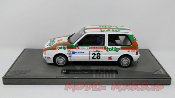TOPMARQUES – FIAT – UNO TURBO i.e. TOTIP CECCATO N 28 7th RALLY SANREMO 1986 A.FIORIO – L.PIROLLO – BASE IN PELLE 24 pz