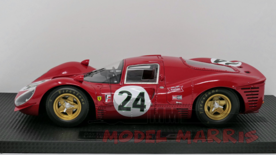 GP-REPLICAS – FERRARI – 330 P4 n856 SEFAC N 24 2nd 24h DAYTONA 1967 LUDOVICO SCARFIOTTI – MIKE PARKES – REAL LEATHER SEATS 250 pz