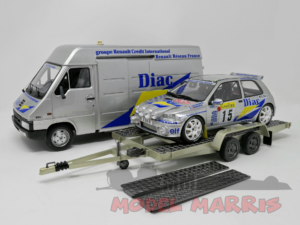 OTTO-MOBILE – RENAULT – RALLY SET MONTECARLO – MASTER VAN + TRAILER + CLIO MAXI DIAC NIGHT VERSION N 15 RALLY MONTECARLO 1995