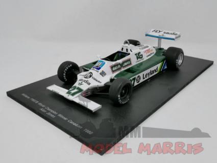 SPARK-MODEL – WILLIAMS – F1 FW07B TEAM ALBILAD WILLIAMS RACING N 27 WINNER CANADIAN GP ALAN JONES 1980 WORLD CHAMPION
