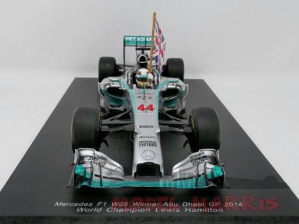SPARK-MODEL – MERCEDES GP – F1 W05 AMG PETRONAS N 44 WINNER GP ABU DHABI LEWIS HAMILTON 2014 WORLD CHAMPION