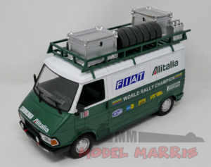 IXO-MODELS – FIAT – 242 VAN FIAT ALITALIA RALLY ASSISTANCE WITH TRAILER 1979