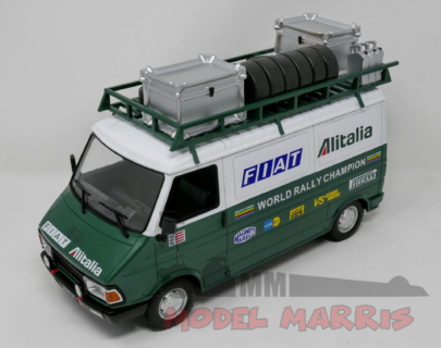 IXO-MODELS – FIAT – 242 VAN FIAT ALITALIA RALLY ASSISTANCE WITH TRAILER 1979