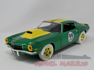 JOHNNY LIGHTNING – CHEVROLET – CAMARO 350 COUPE N 99 RACING HAZZARD – MECHANIC COOTER'S CAR – COOTER MECCANICO limited white rubber