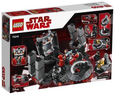 LEGO 75216 Star Wars – Sala del trono di Snoke