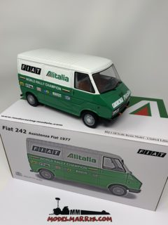 1/18 LAUDORACING FIAT – 242 VAN ALITALIA – ASSISTENZA LANCIA CORSE RALLY 1974 pz 150