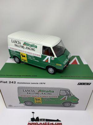 LAUDORACING – FIAT – 242 VAN ALITALIA – ASSISTENZA LANCIA CORSE WORLD RALLY CHAMPION 1977 pz 150