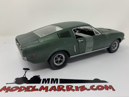 GREENLIGHT – FORD USA – MUSTANG GT390 COUPE 1968 – BULLIT – STEVE McQUEEN – UNRESTORED DETROIT AUTO SHOW 2018