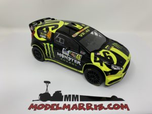 IXO-MODELS – FORD ENGLAND – FIESTA RS WRC MONSTER N 46 RALLY MONZA 2014 VALENTINO ROSSI – C.CASSINA