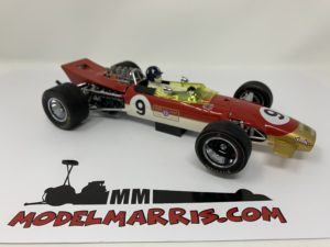 EXOTO – LOTUS – F1 49B GOLD LEAF N 9 WINNER MONACO GP GRAHAM HILL 1968 WORLD CHAMPION – WITH DRIVER FIGURE
