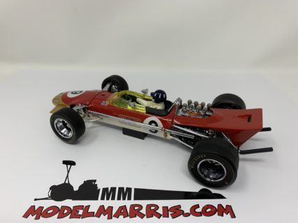 EXOTO – LOTUS – F1 49B GOLD LEAF N 9 WINNER MONACO GP GRAHAM HILL 1968 WORLD CHAMPION – WITH DRIVER FIGURE