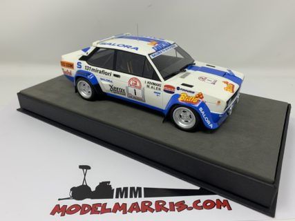TOPMARQUES – FIAT – 131 ABARTH N 1 WINNER RALLY 1000 LAKES 1980 M.ALEN – I.KIVIMAKI