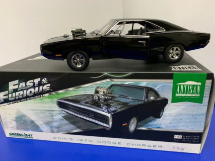 GREENLIGHT – DODGE – DOM'S CHARGER 1970 – DOMINIC TORETTO – FAST & FURIOUS I (2001)