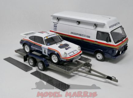 OTTO-MOBILE – PORSCHE – RALLY SET – 911SC RS TEAM ROTHMANS PORSCHE N 4 WINNER RALLY 1000 PISTES 1984 H.TOIVONEN – I.GRINDROD + VOLKSWAGEN LT40 VAN ASSISTANCE + TRAILER