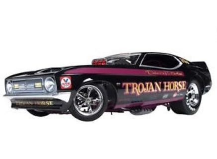 AUTOWORLD – FORD USA – MUSTANG N 731 FUNNY CAR DRAGSTER TROJAN HORSE 1972 DOHERY FULLERTON