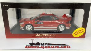 Autoart Peugeot 307 WRC Gronholm Rauttainen #7 2005 deutschalnd