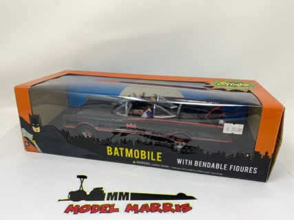 NJCROCE – BATMAN – BATMOBILE 1966 – CLASSIC TV SERIES WITH FIGURES BATMAN AND ROBIN – WITH BENDABLE FIGURES
