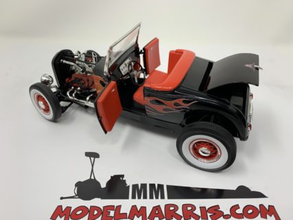 Ford Description	:	 1929 Ford Hot Rod, black on red with flames