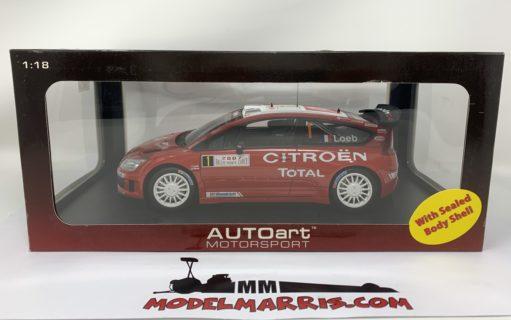 AUTOART – CITROEN – C4 WRC N 1 WINNER RALLY MONTECARLO 2007 S.LOEB – D.ELENA