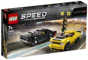 LEGO 75893 Speed Champions – 2018 Dodge Challenger SRT Demon e 1970 Dodge Charger R/T