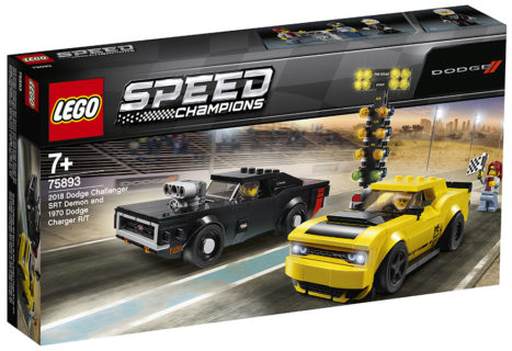 LEGO 75893 Speed Champions – 2018 Dodge Challenger SRT Demon e 1970 Dodge Charger R/T