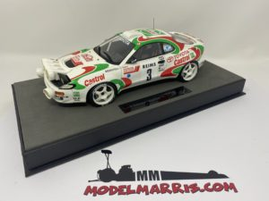 TOPMARQUES – TOYOTA – CELICA GT4 TURBO 4WD ST185 (night version) TEAM CASTROL N 3 WINNER RALLY MONTECARLO 1993 D.AURIOL – B.OCCELLI