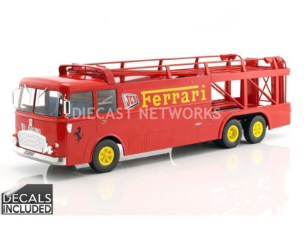NOREV – FIAT – BARTOLETTI 306/2 3-ASSI TRUCK TEAM JCB RACING TEAM FERRARI CAR TRANSPORTER 1962