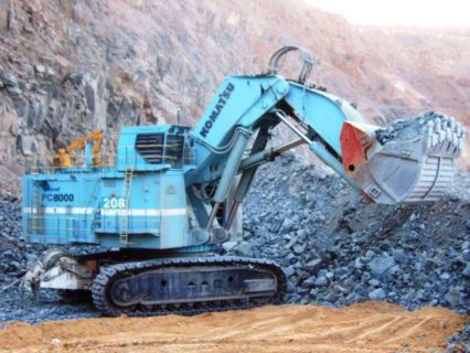"""KOMATSU Excavator PC8000-6 Electric Shovel """"Jwaneng"""" * BYMO * LMT 150 PEZZI"""