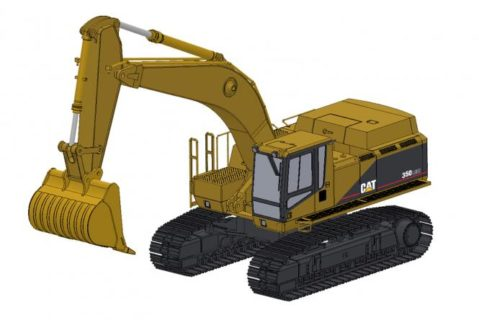 *PREORDER ONLY* CAT Excavator 350LME with Rock Bucket – CCM – CLASSIC CONSTRUNCTION – 1/48