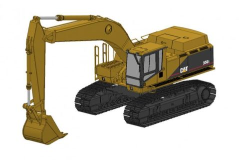 *PREORDER ONLY* CAT Excavator 350L with two buckets – CCM – CLASSIC CONSTRUNCTION – 1/48