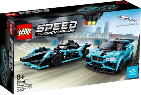 Lego Speed Champion 76898 Formula E Panasonic Jaguar Racing Gen2 car & Jaguar I-Pace e T