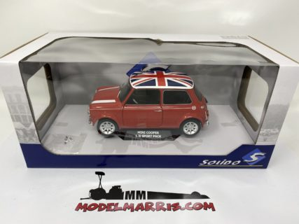 SOLIDO – MINI – COOPER 1.3i SPORT PACK WITH UK ENGLISH FLAG 1997