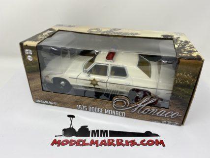 GREENLIGHT – DODGE – MONACO – HAZZARD COUNTY SHERIFF – POLICE ROSCO PATROL CAR 1977
