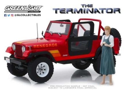 *PREORDER* 1983 Jeep CJ-7 Renegade with Sarah Connor Figure *The Terminator 1984*
