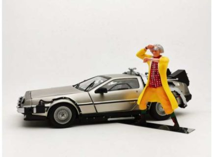 *PREORDER* 1983 Delorean *Back to the Future II* Including Dr. Brown Figure.