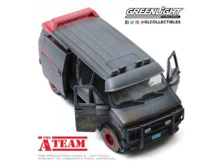 1983 GMC Vandura Weathered Version with Bullet Holes *The A-Team 1983-87
