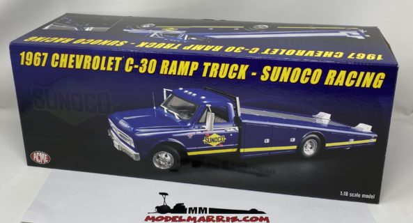 ACME-MODELS – CHEVROLET – C-30 TRUCK RAMP CAR TRANSPORTER SUNOCO 1967