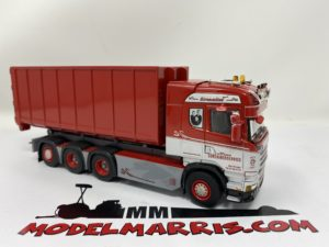 Scania Streamline Highline 8×4 con container Camion cava cantiere 1:50 | Wsi 01-2701