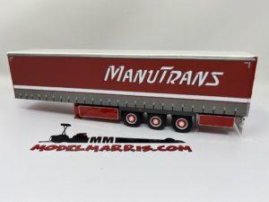 "Semirimorchio telonato ""Manutrans"" Rimorchio trasporto merci 1:50 | Wsi 01-2143"