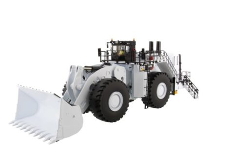 85533 Cat 994K Wheel Loader w/ Coal Bucket white 1/50 Diecast Masters
