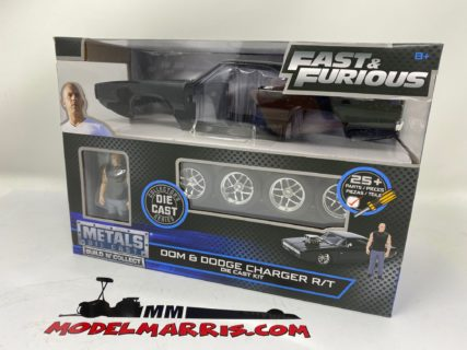 JADA – DODGE – DOM'S DODGE CHARGER R/T 1970 – WITH FIGURE DOMINIC TORETTO – FAST & FURIOUS 7 kit 1/24