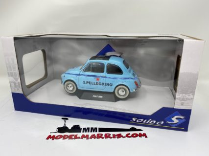 SOLIDO – FIAT – 500 S.PELLEGRINO ACQUA FRIZZANTE CLOSED ROOF 1968
