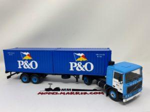 IXO-MODELS – VOLVO – F10 TRUCK TRASPORTO CONTAINER P&O 1983 1/43