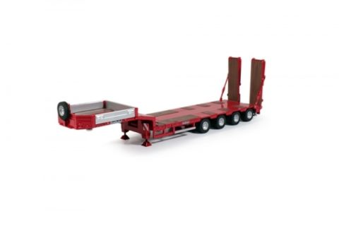 Goldhofer low-loader 4 axle red – TEKNO 55013 – 1/50