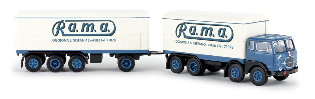 BREKINA PLAST – FIAT – 690 TRUCK MILLEPIEDI 4-ASSI R.A.M.A. 1961 – 1/87