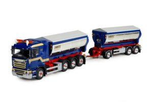 Scania R-Streamline asfalt kipper combinatie – Hasse Nilssons – TEKNO 73149 – limited 175 pz