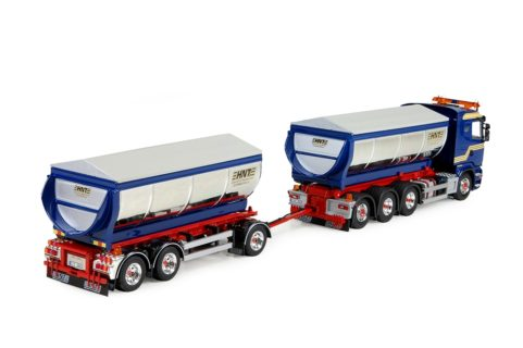 Scania R-Streamline asfalt kipper combinatie – Hasse Nilssons – TEKNO 73149 – limited 175 pz