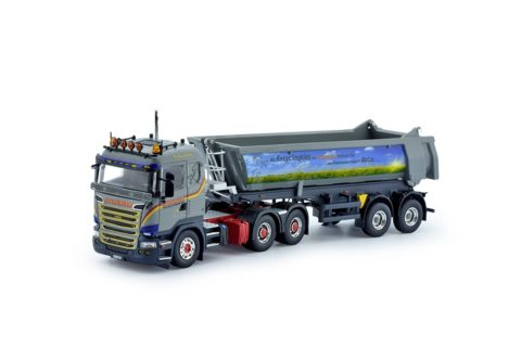Scania R-serie with 2 axle Meiller tipper trailer – Steinauer – TEKNO 75535 – 1/50