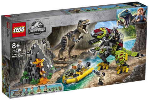 LEGO 75938 LEGO Jurassic World – Battaglia tra T. rex e Dino-Mech