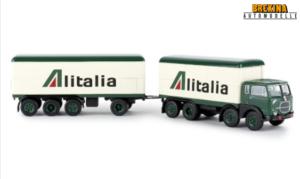 BREKINA PLAST – FIAT – 690 TRUCK MILLEPIEDI 4-ASSI – ALITALIA 1961 – 1/87